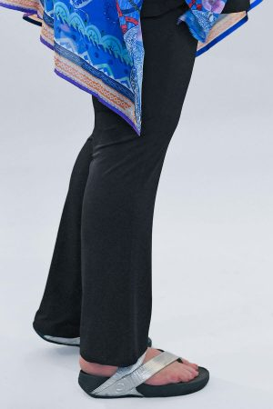 Yoek silky jersey narrow trousers