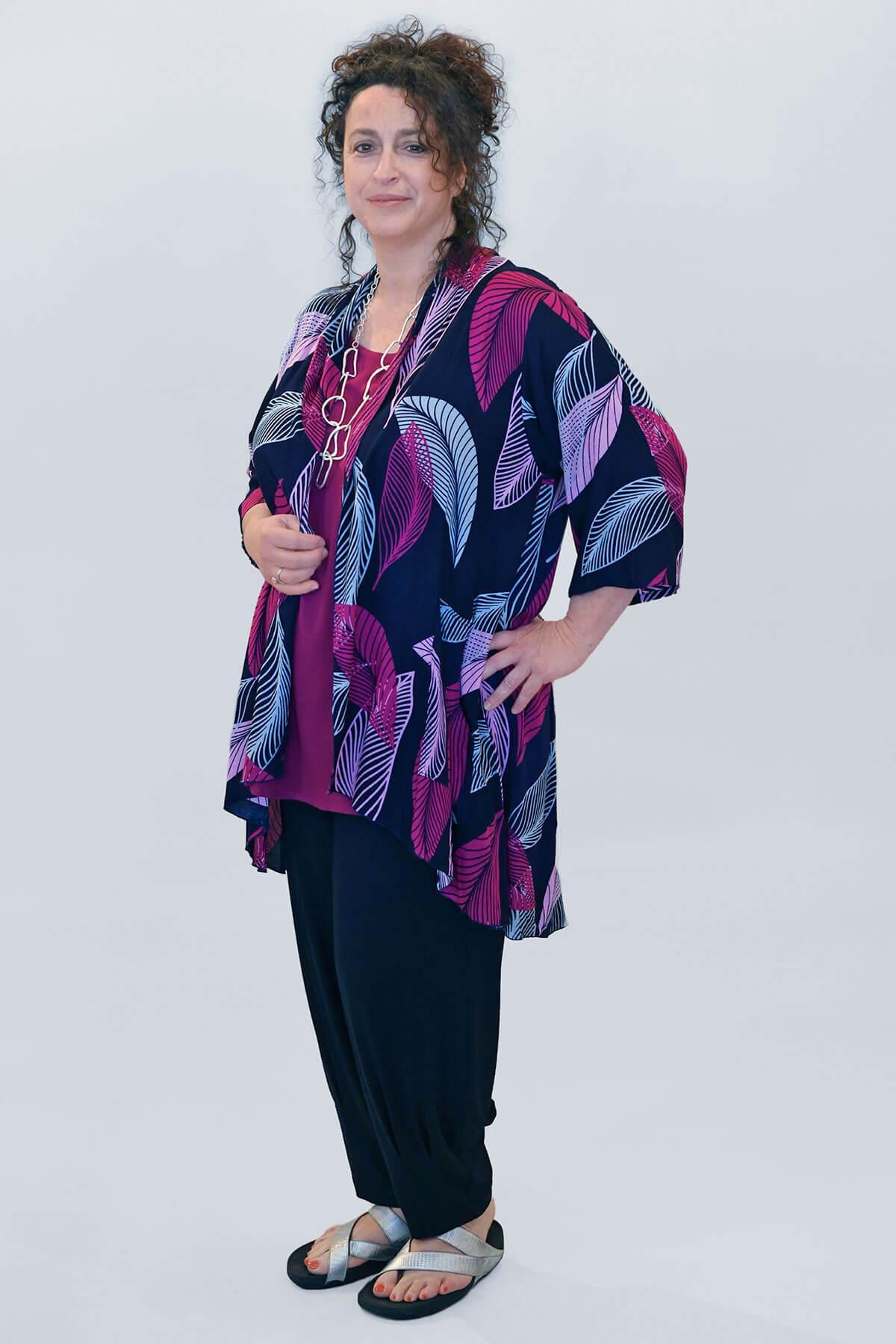 Angel Circle feather kimono