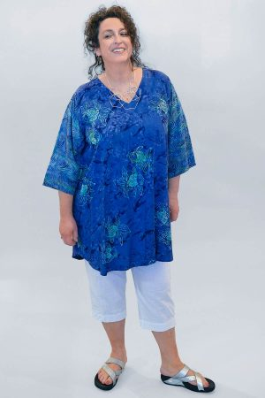 Angel Circle fish pattern tunic