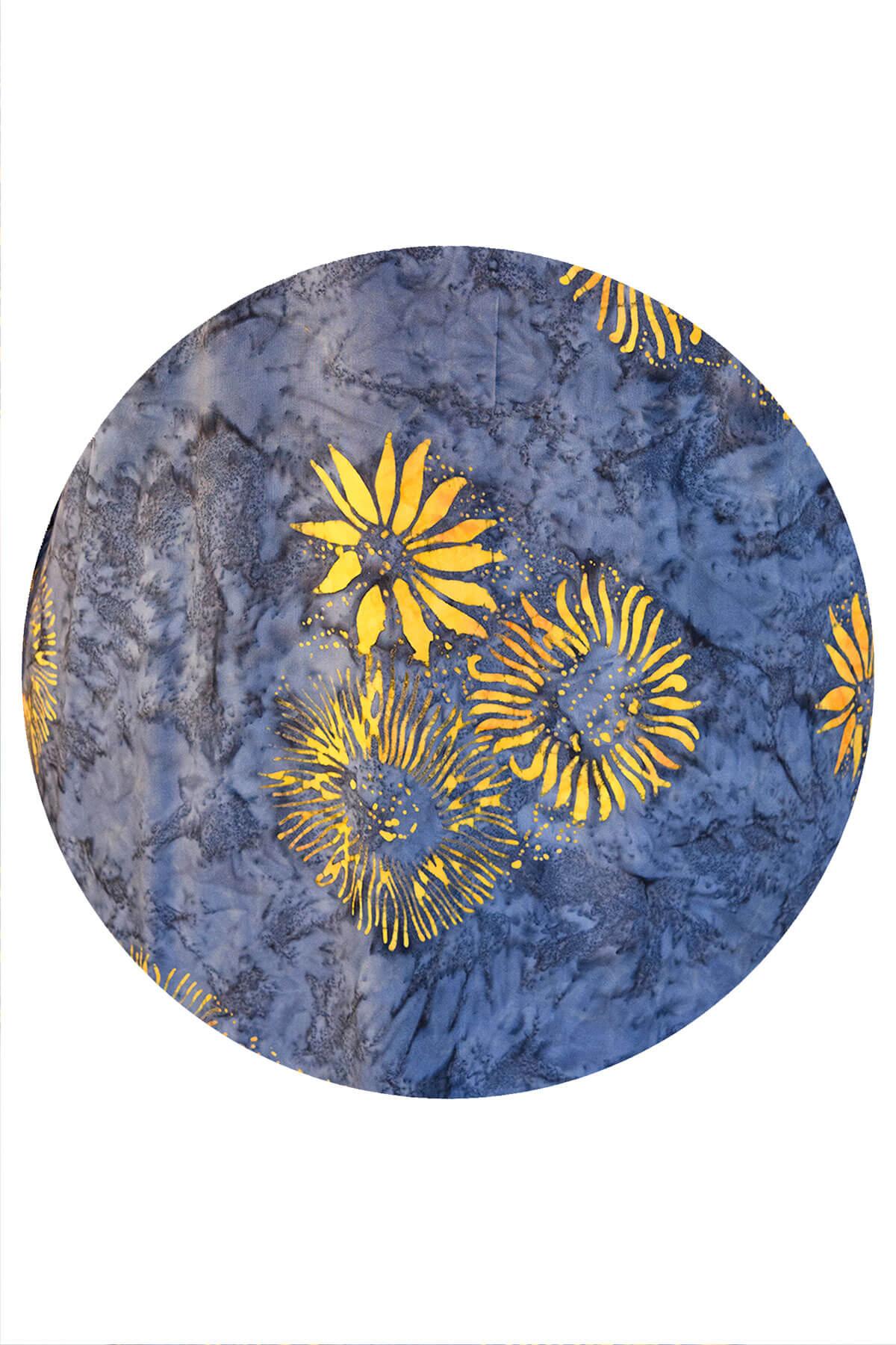 Angel Circle square sunflower poncho