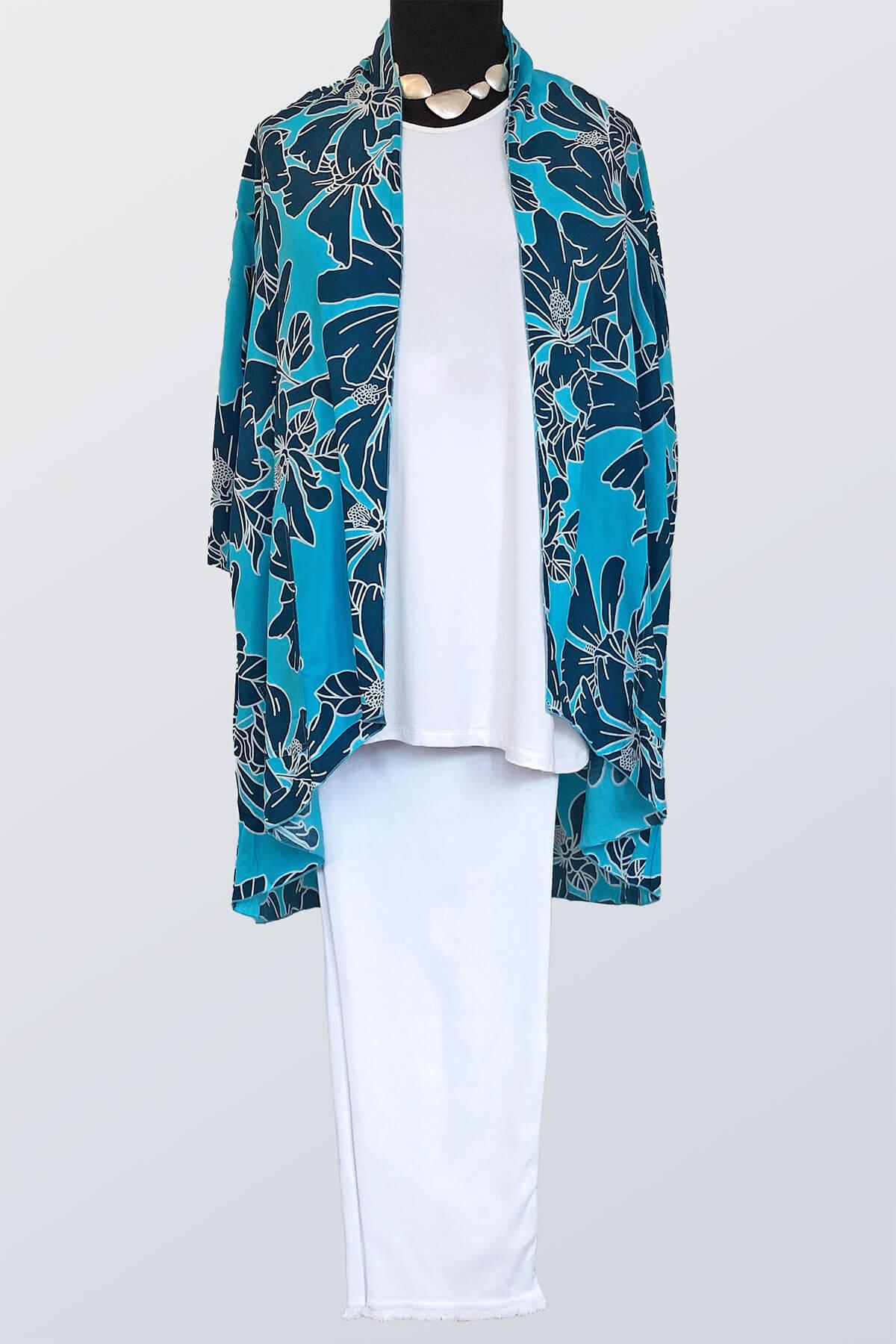 Angel Circle floral kimono