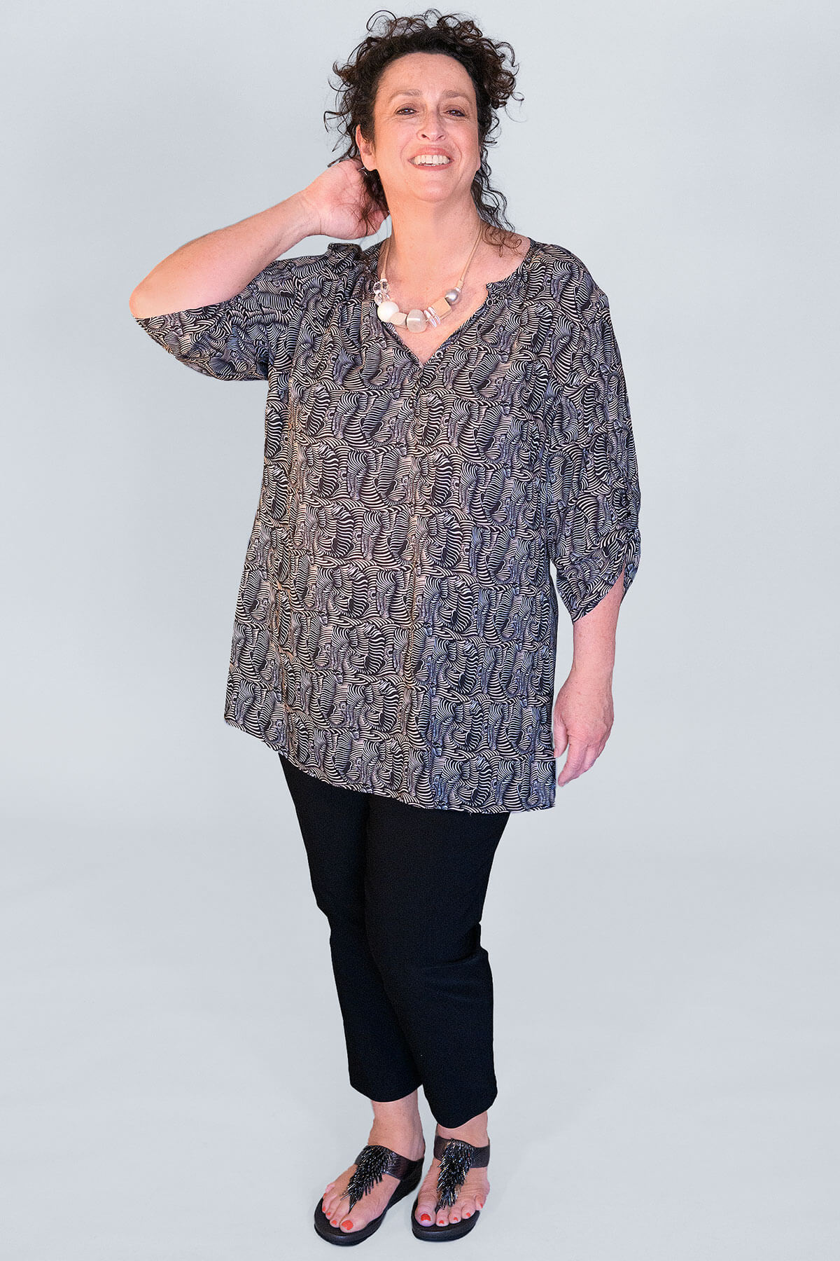 Doris Streich squiggle tunic