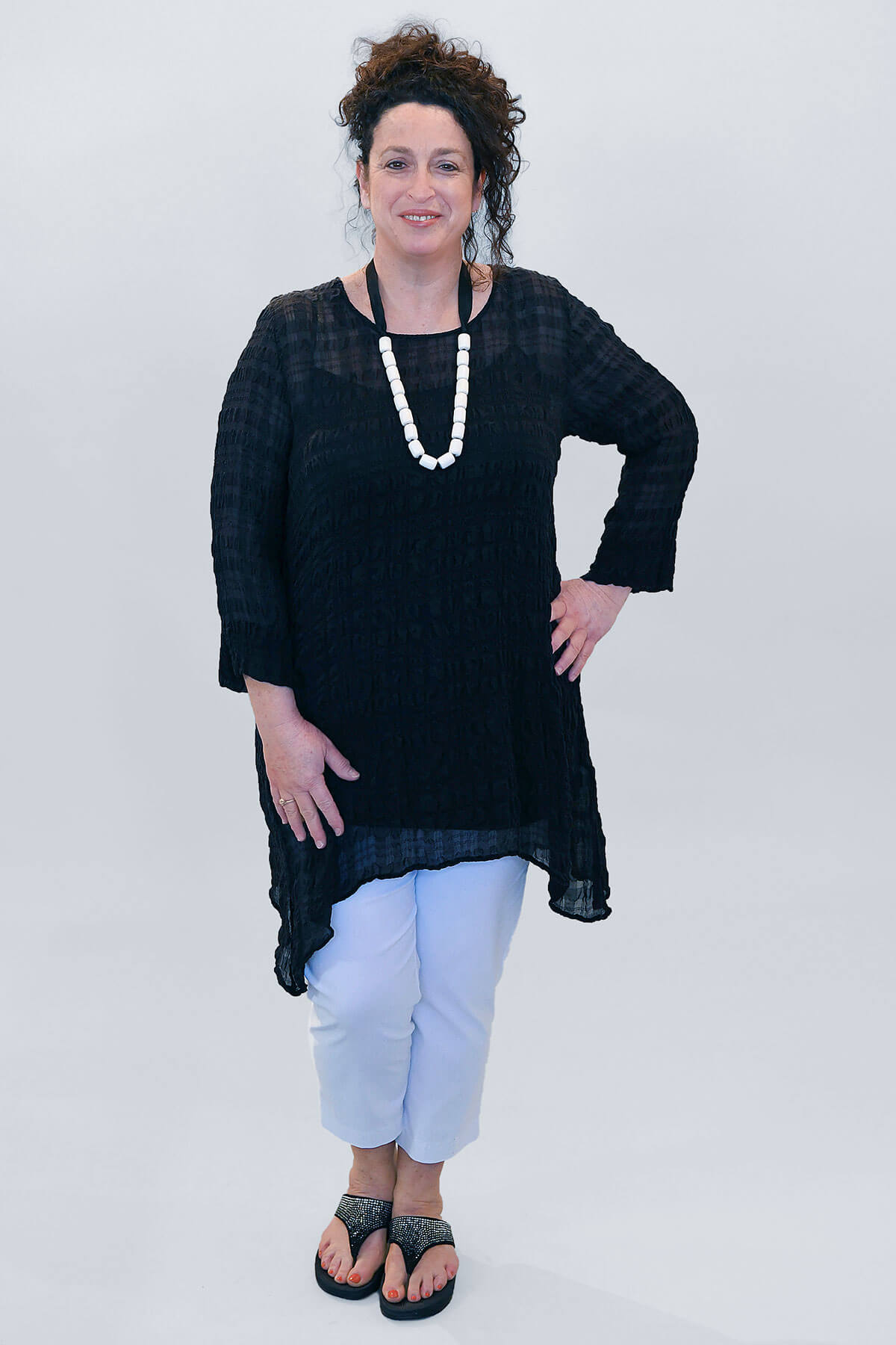 Grizas dip sided tunic