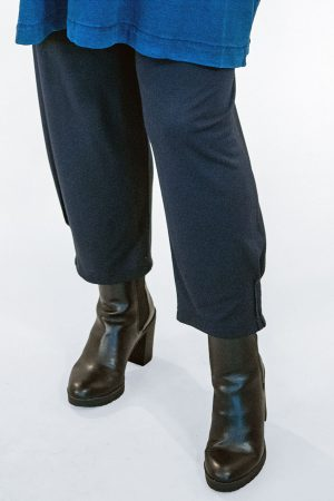 The model in this photo is wearing Masai Patti harem trousers available in navy or black from Bakou up to size 22