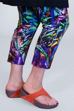 Doris Streich floral crop leggings