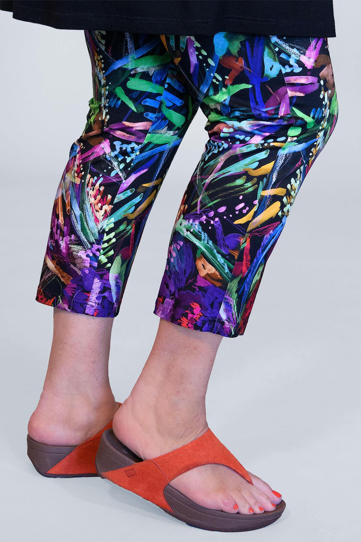 Doris Streich floral crop leggings