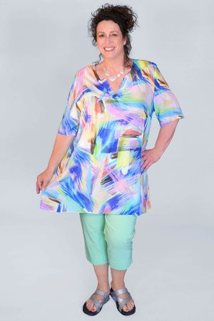 Mona Lisa brushstroke tunic