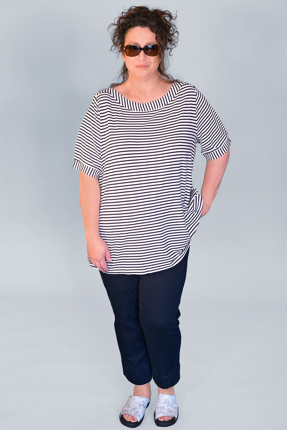Via Appia Breton stripe t-shirt