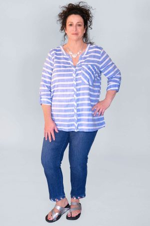 Via Appia cotton striped shirt