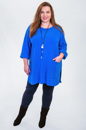 The model in this photo is wearing a large, oversized pullover from Vetono