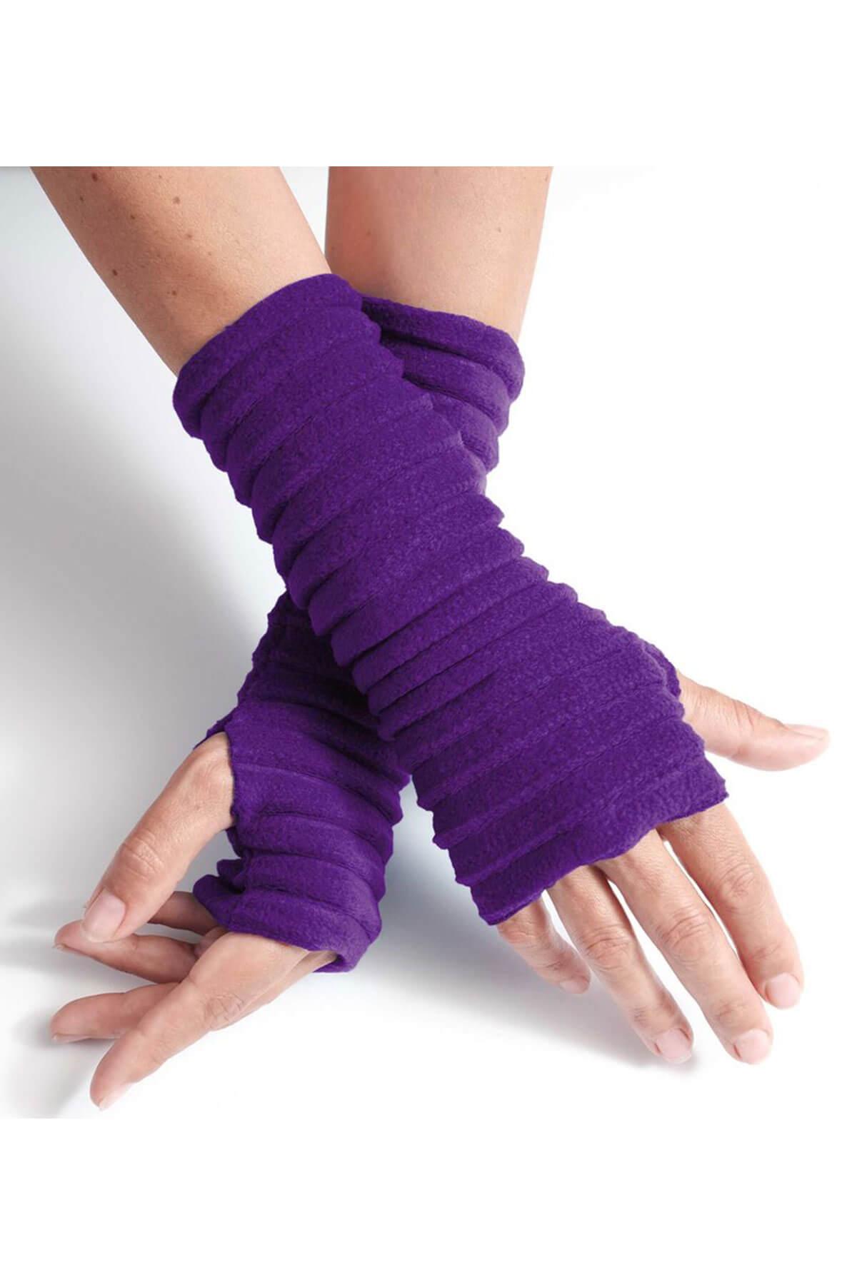 Anna Falcke Wristees -  Purple
